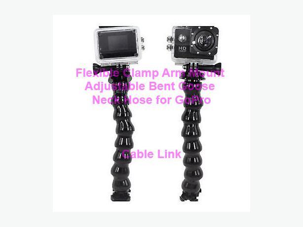 Flexible Clamp Arm Mount Adjustable Bent Goose Neck Hose GoPro