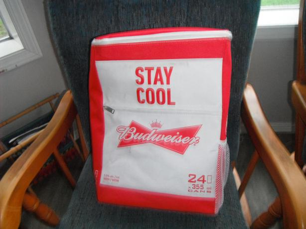 Budweiser insulated back pack -24 can capacity