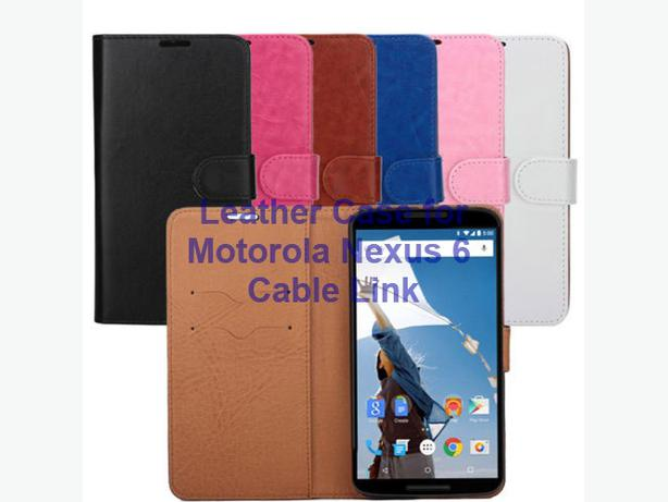 Stylish Wallet Leather Case for Motorola Nexus 6