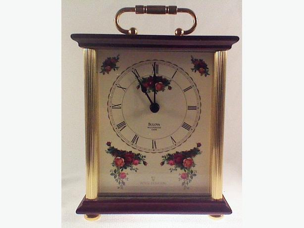Royal Doulton Bulova clock