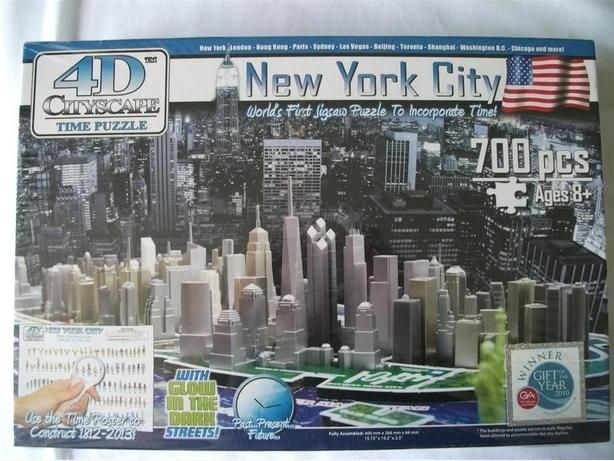 4D Cityscape New York City Time Puzzle Brand New Sealed