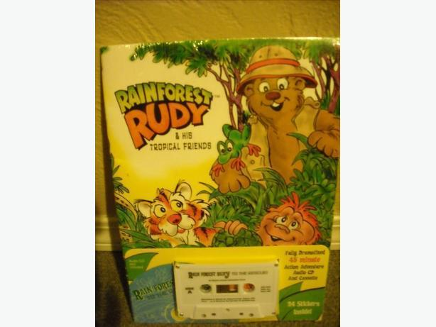 AUDIO CD AND CASSETTE AND STICKER BOOK