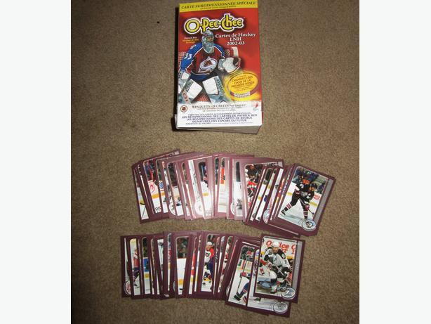 Box of  02-03 O-Pee-Chee hockey cards