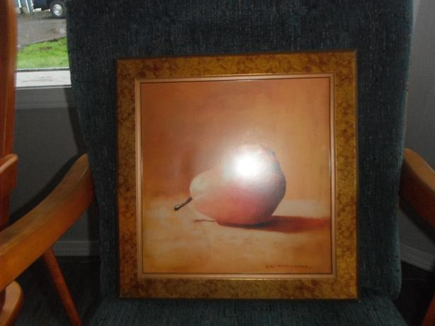 pear print in a gold leaf frame