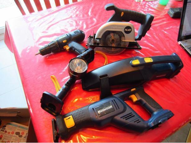 Mastercraft Set of Cordless Power Tools