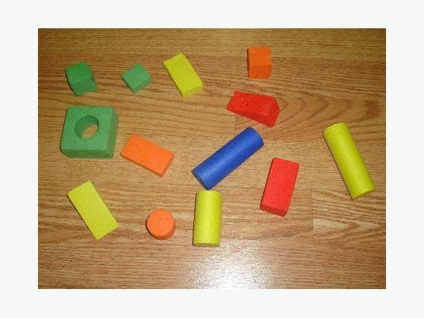 Like New Set of Spongy Learning Shapes - $1
