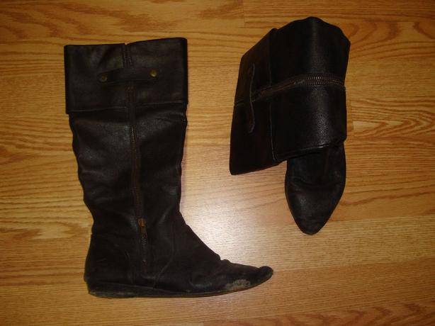 Another pair of Black Tall Leather Boots Size 8 - $8