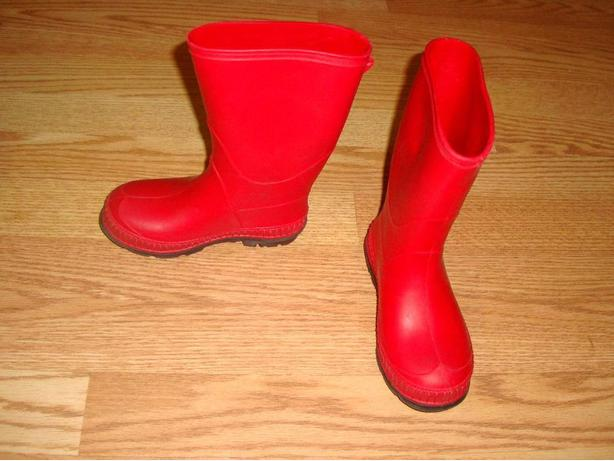Like New Rainboots Red Toddler Size 10 but fit like a 9 - $6