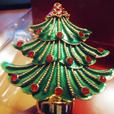 Gold Green X-Mas Tree Bottle Stopper - NEW in Box Bombay Company