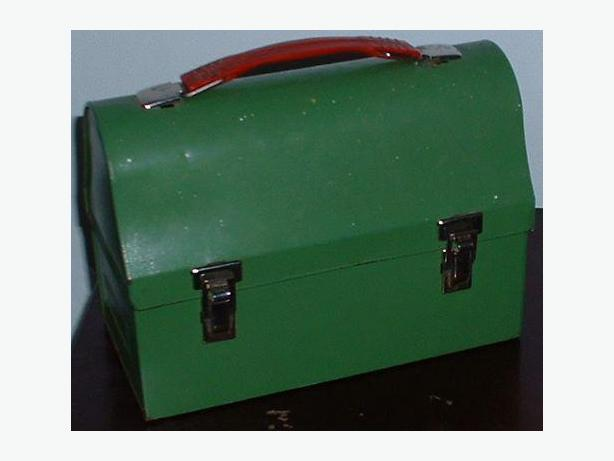 Vintage Green Metal Lunchbox 1950s