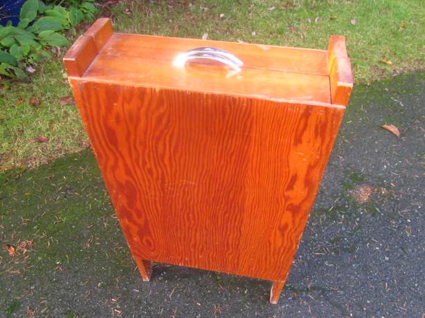 Hand Crafted all wood Vintage Sewing Cabinet