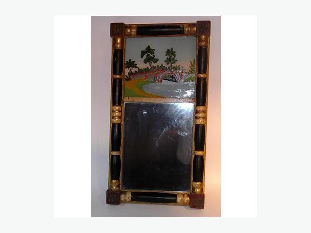 Antique Reverse Painted Mirror (Circa 1830)