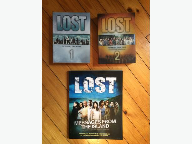 LOST Season 1 & 2 dvd sets + Lost book