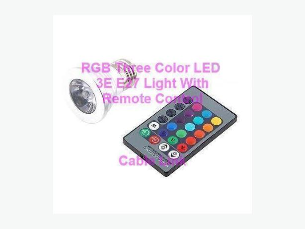 16 Color RGB LED Flash Light Bulb Lamp Remote Controller