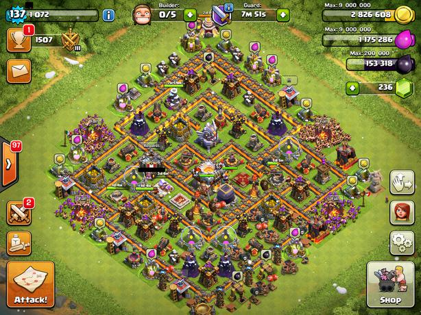 clash of clans th11 стройка деревня