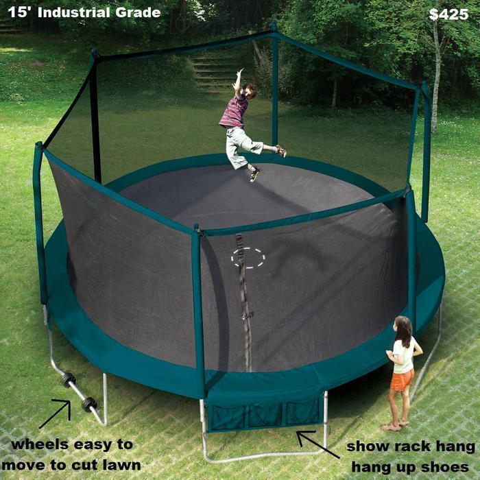"""17 X 15 Oval Trampoline With Safety Enclosure: Trampoline Sale 55"""",8',11',12',13',14',15',17'x15' Oval"""