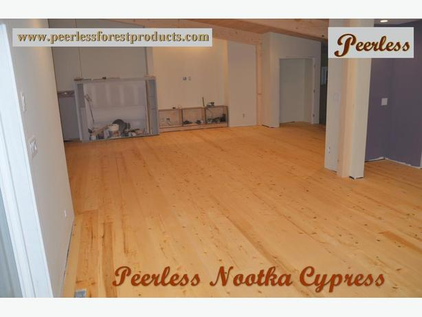 NOOTKA CYPRESS- YELLOW CEDAR- WIDE PLANK FLOORING