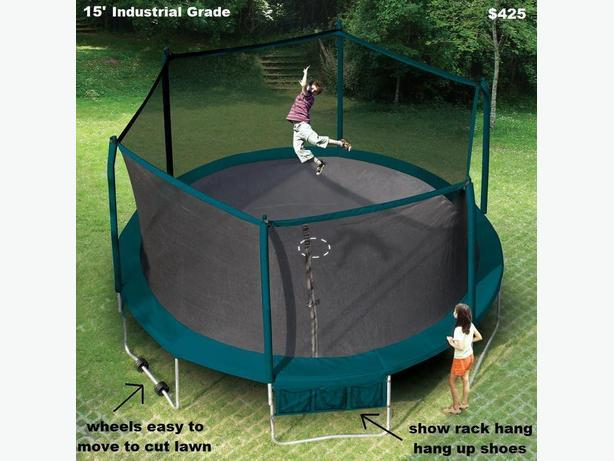 "Trampoline Sale 55"",8',11',12',13',14',15' ,17'x15' Oval  Lazar Game"