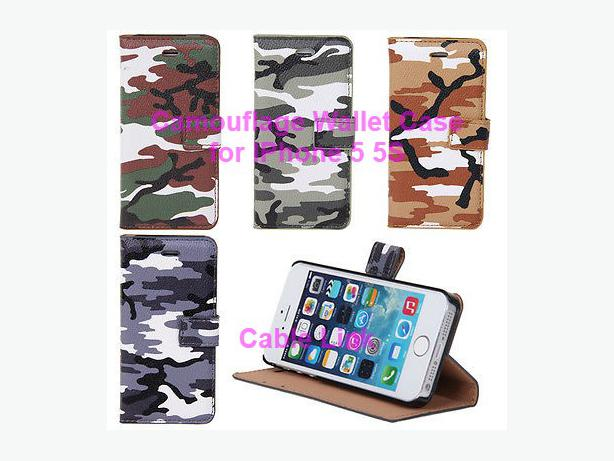 Camouflage Flip Stand Cover Case for Apple iPhone 5 5s