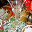 Vintage Georgian Trumpet Champagne Flutes / Stem Wine Glasses
