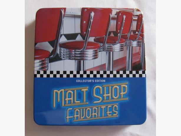 Malt Shop Favorites 3 CD's Collector's Edition In Tin