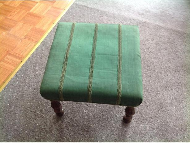 foot stool 19 inches square and 14 high