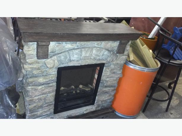 Electric Brick Fireplace