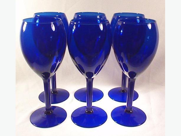 Cobalt wine glasses