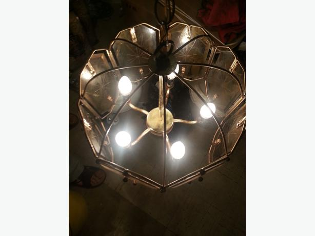 Brass Chandelier with five lights