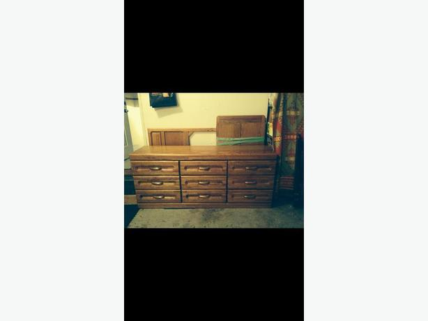 Amish Solid Wood Dresser and Mirror