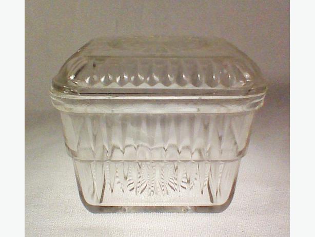 Vintage glass refrigerator box