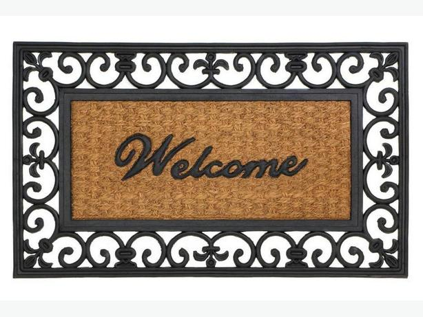 Indoor Outdoor Welcome Entry Floor Mats 4 Designs Mix&Match 4PC