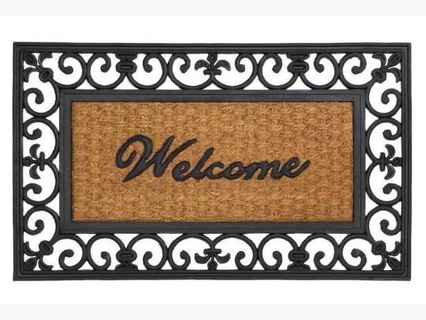 Indoor Outdoor Welcome Entry Floor Mats 4 Designs Mix&Match 4PC