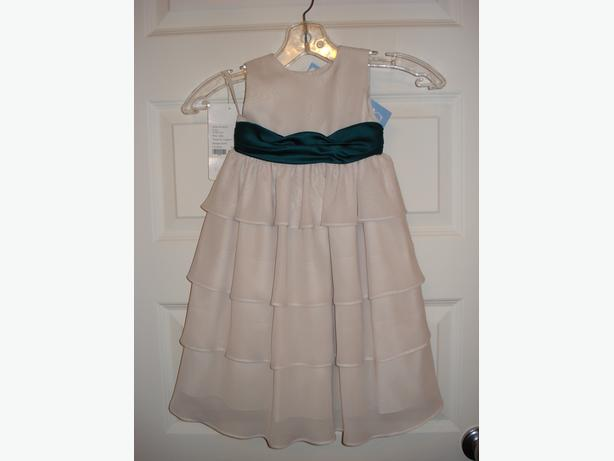 NEW FLOWER GIRL DRESS, SIZE 24M