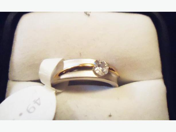Fifth Avenue - Silver & Gold Band Ring NEW Sz 9