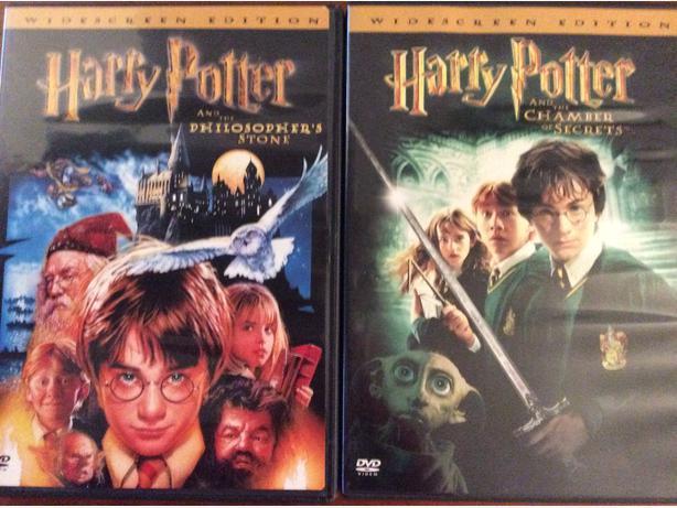 5 Harry Potter films on DVD