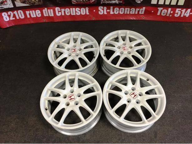 JDM ACURA RSX DC5 WHITE OEM TYPE-R MAGS ONLY 5X114.3 17INC