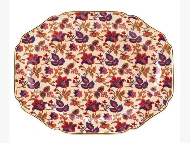 Huge Jaipur Cream Serving Platter 4 Lot Brand New Stunning