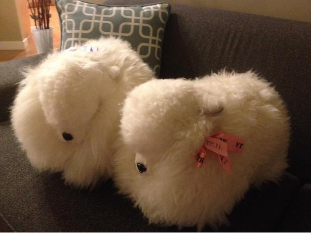 TWO LARGE AUSTRALIAN SHEEP - PURE SHEEPSKIN