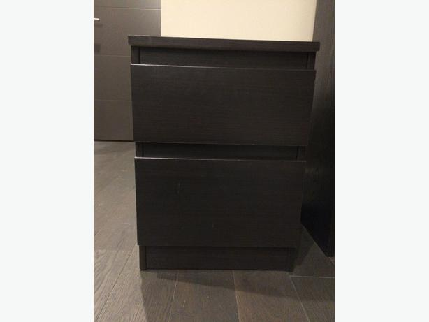 Ikea malm 2 drawer chest black brown victoria city victoria for Ikea black malm