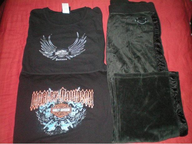 Womans Large Harley Davidson lot
