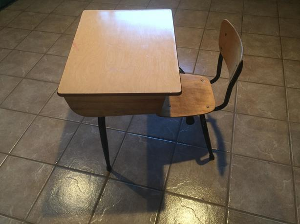 Refinished Kids' School Desk