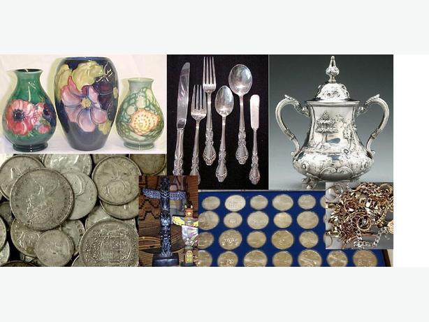 We Buy Antiques, Collectibles, Coins, Silver, Gold, Art, Estates