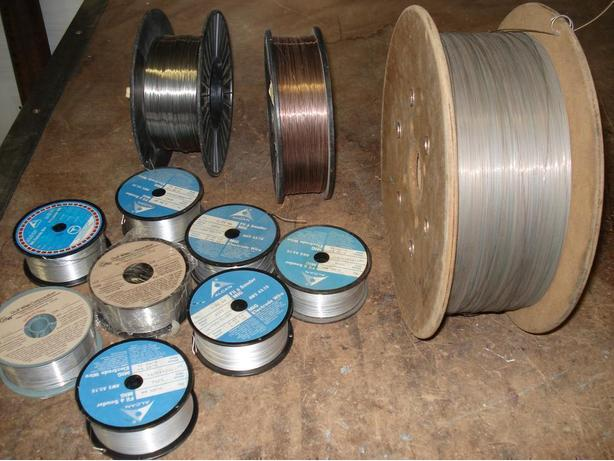 Welding Wirespools.   2- Steel, 8-Alunium, 1-Stainless