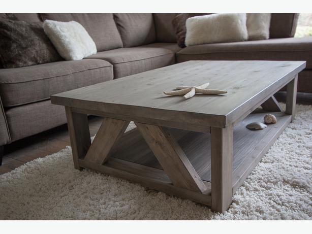 Handmade Rustic Looking Wood Coffee Tables