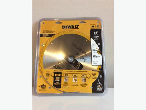 "NEW Dewalt 12"" 32 tooth Construction Blade"