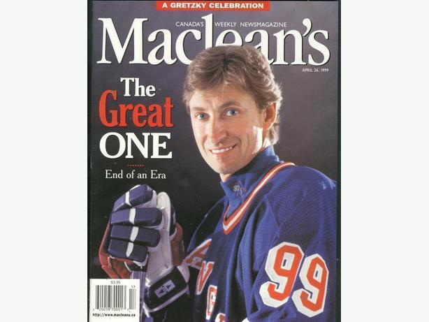 Maclean's Magazine Wayne Gretzky Cover