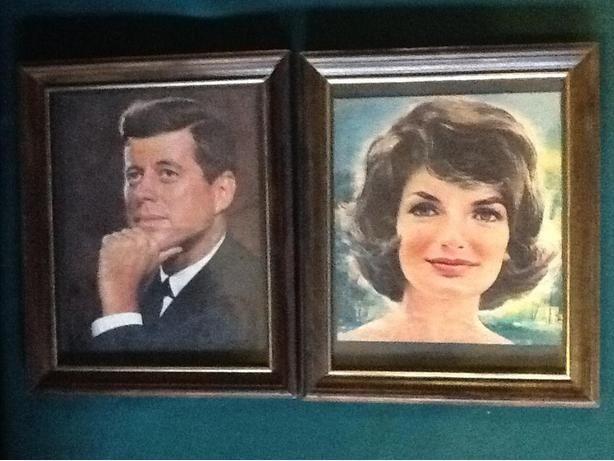 Two framed prints of the Kennedys