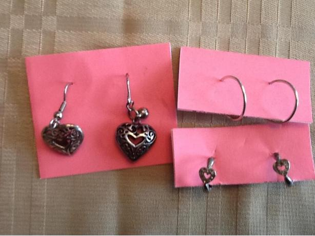 Silver earrings $15 per pair or all for $40