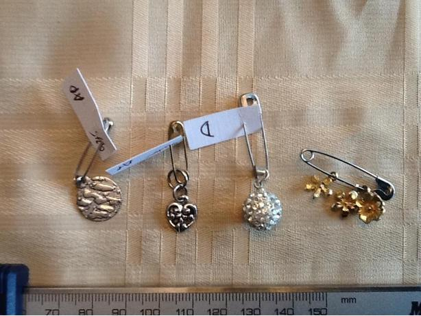 Silver pendants, charms and/or earring drops - $3 to $5